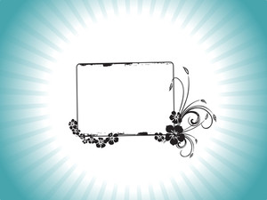 Frame Decorated With Flower Elements