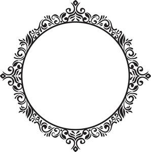 Frame Floral Vector Element
