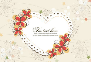Frame With Floral Vector Illustration