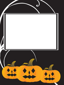 Frame With Pumpkin On The Background