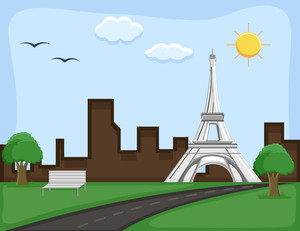 France - Cartoon Background Vector