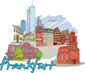 Frankfurt Vector Doodle