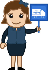 Free Shipping Offer - Cartoon Vector