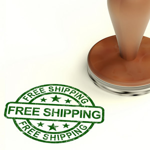 Free Shipping Stamp Shows No Charge Or Gratis To Deliver