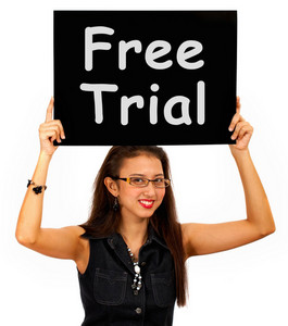 Free Trial Board Shows Special Offer Promotion