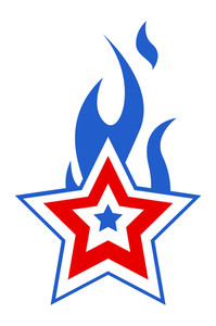 Freedom Day Burning Star 4th Of July Vector Illustration
