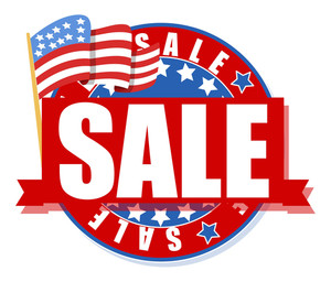 Freedom Day Sale 4th Of July Vector Illustration