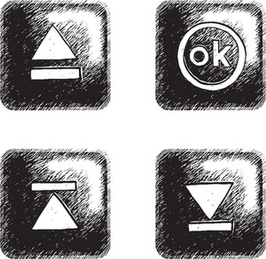 Freestyle Hand-drawn Icons For Multimedia Interface.