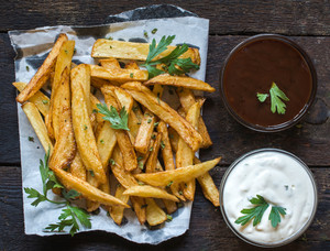 French Fries And Sauces