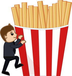 French Fries - Cartoon Business Vector Character