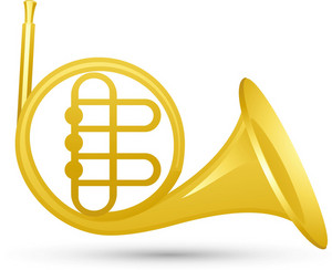French Horn Lite Music Icons