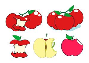 Fresh And Eaten Apples