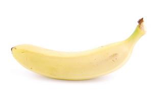 Fresh Banana On White