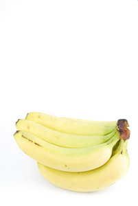 Fresh Bananas On White
