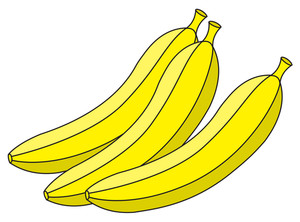 Fresh Bananas Vector Illustration