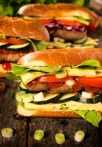 Fresh Burger Sandwiches