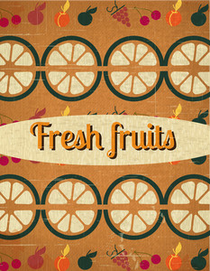 Fresh Fruit Background (editable Text)