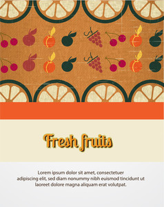 Fresh Fruits Poster (editable Text)