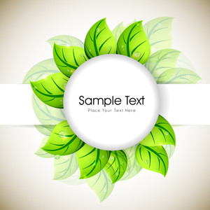 Fresh Green Leaves Background With Space For Your Text.