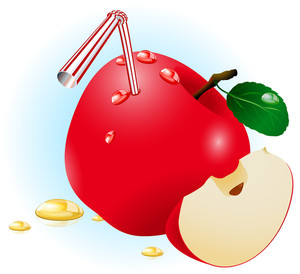 Fresh Ripe Apple Juice. Vector.