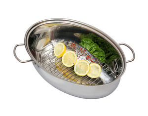 Fresh Sea Bass Fish In The Steam Pot