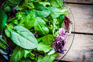 Freshh Green Salad With Spinach