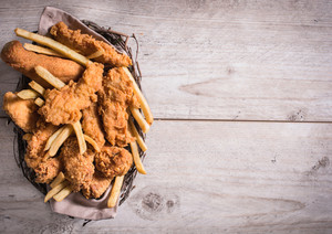 Fried Food In The Basket