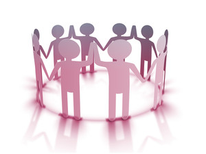 Friends Circle Of Young People Joinning Hands For Happy Friendship Day