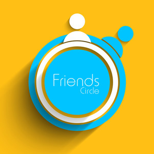 Friends Circle On Yellow Background