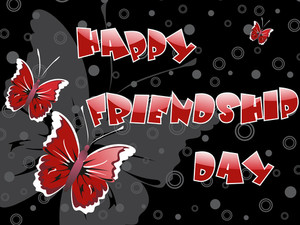 Friendship Day Background With Butterfly