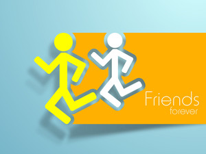 Friendship Day Background With Two Friends