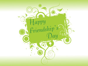 Friendship Day Floral Frame In Green