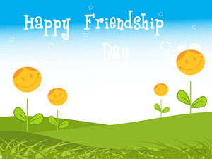 Friendship Day Garden Background