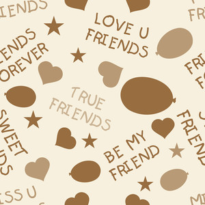 Friendship Day Seamless Background.