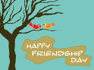 Friendship Day Wallpaper Illustration