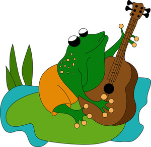 Frog Playing Guitar