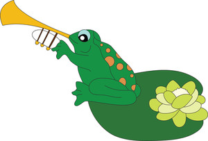 Frog Playing Trumpet