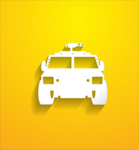 Front View Jeep Shape Vector