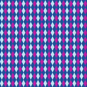 Blue And Purple Argyle Pattern On Frozen Inspired Paper