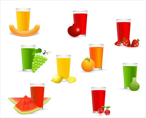 Fruit Juice Vectors