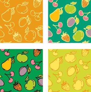 Fruit Seamless Background.