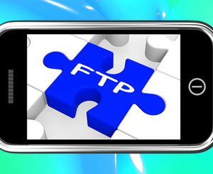 Ftp On Smartphone Showing Data Transmission