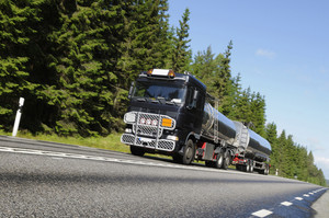 fuel and oil truck on the move