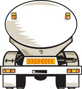 Fuel Tanker Rear View