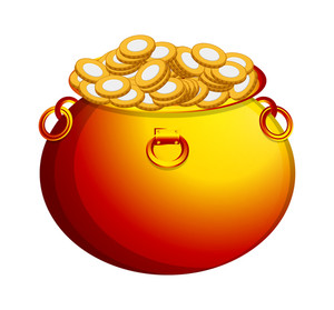 Full Gold Coins Cauldron