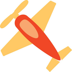 Funky Airplane Icon