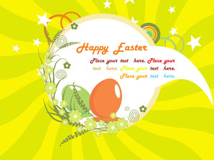 Funky Artwork Background For Easter Day