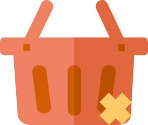 Funky Basket Delete Icon