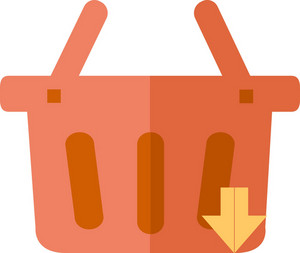 Funky Basket Down Icon