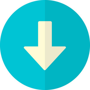Funky Button Arrow Down Icon
